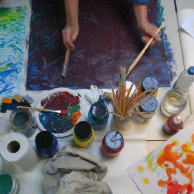 Schilderen met speciale thema's bij Rene Beerendonk