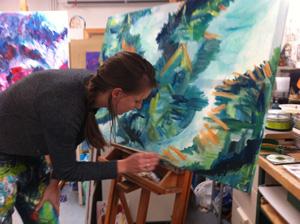 Vrij schilderen bij Rene Beerendonk