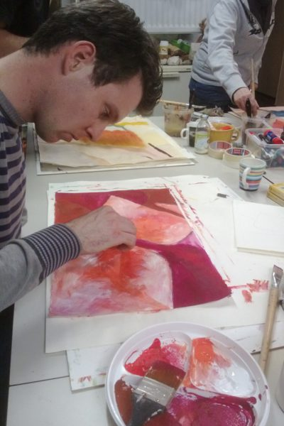Schilder cursus bij Rene Beerendonk